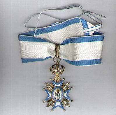 Order of St. Sava, commander (III class), 1921 onwards issue (Saint in Green Robes) by Fran Sorlini of Varaždin