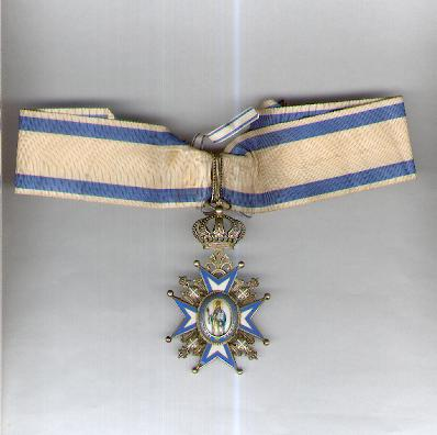 Order of St. Sava, commander (III class), 1921 onwards issue (Saint in Green Robes) by Huguenin Frères of Le Locle, Switzerland