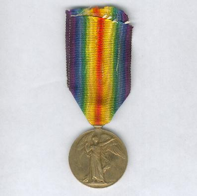 Inter-Allied Victory Medal, South African bilingual issue, 1914-1919, attributed