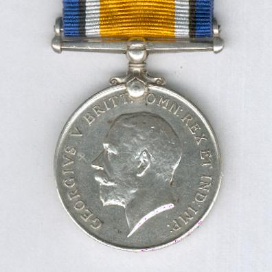 British War Medal, 1914-1920, attributed, 2nd Regiment, South African Infantry
