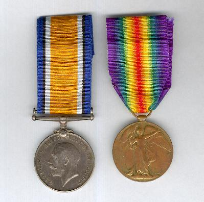 Great War Pair: British War Medal 1914-1920 and Inter-Allied Victory Medal, South African bilingual issue, 1914-1919, attributed, 6th South African Infantry