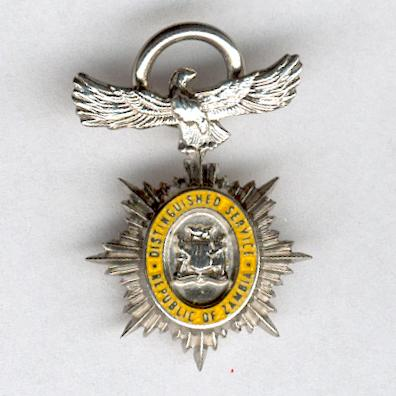 Order of Distinguished Service, Grand Officer, 2nd type since 1997, by Spink & Son, London, with silver assay marks for London, 1997, miniature