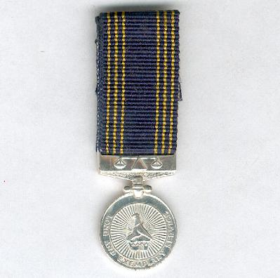 Police Long and Exemplary Service Medal, miniature