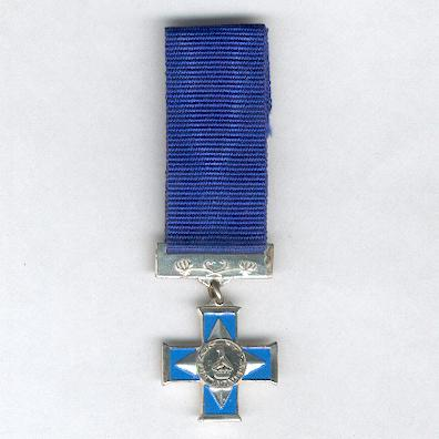 Silver Cross of Zimbabwe for Bravery, rare civilian version, miniature