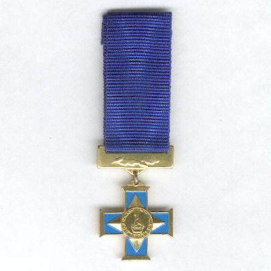 Silver Cross of Zimbabwe for Bravery, Army version, miniature