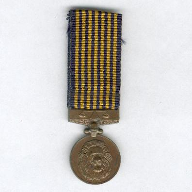 Police Commendation Medal, miniature
