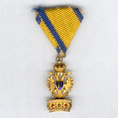 Imperial Order of the Iron Crown, III class, miniature