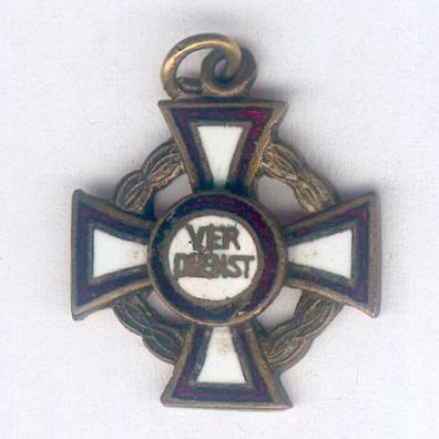 Cross for Military Merit, III class with war decoration (Militär-Verdienstkreuz, III Klasse mit Kriegsdekoration), miniature