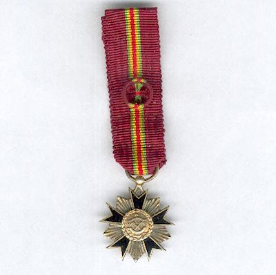 National Order of Dahomey, officer, miniature (Ordre National du Dahomey, officier, miniature), 1960-1975