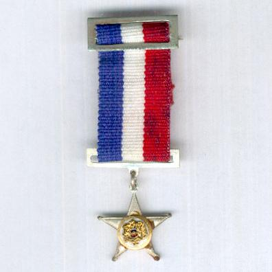 Military Star for Naval Officers for 10 years' service (Estrella Militar por Oficiales de la Armada por 10 años de servicio), miniature