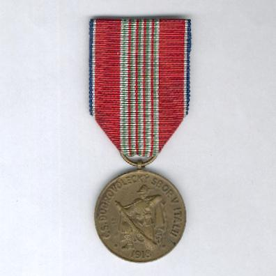 Commemorative Medal for the 30th Anniversary of the Czechoslovak Volunteer Corps in Italy, 1918