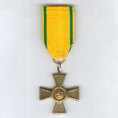BADEN.  Order of the Zahringen Lion, Cross of Merit (Orden vom Zähringer Löwen, Verdienstkreuz), 1889-1918 issue