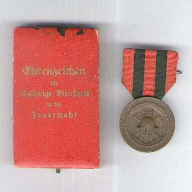 WURTTEMBERG.  Fire Service Decoration (WÜRTTEMBERG.  Feuerwehrdienst-Ehrenzeichen), 1919-1925, in original fitted embossed case of issue