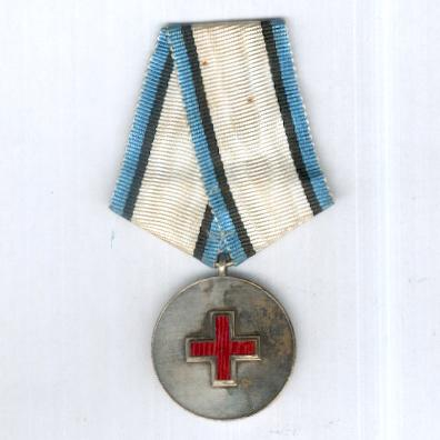 Estonian Red Cross, silver medal (Eesti Punase Risti, hõbemedal), first issue, 1920-1940