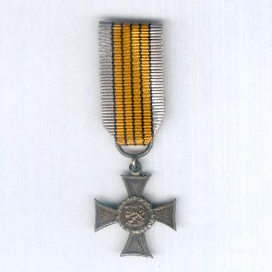 Veterans Cross (Veteraaniristi), 1881-1936, miniature