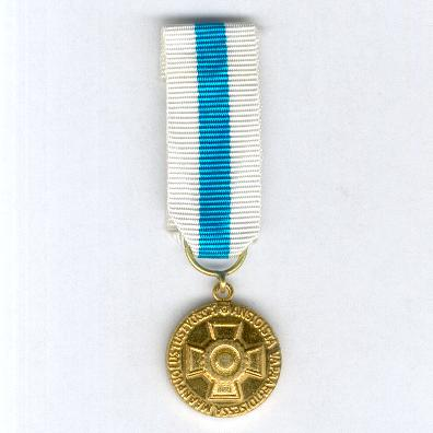Reserve Non-Commissioned Officers Association Golden Medal of Merit (Reservin Aliupseerien Liito Kultainen Ansiomitali), miniature