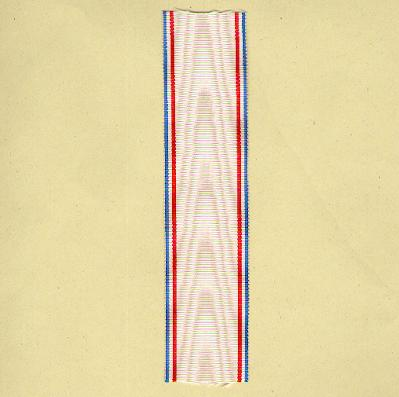 FRANCE. Ribbon for the Medal of French Recognition (Coup de ruban pour la Médaille de la Reconnaisance Française)