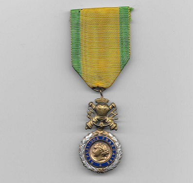 Military Medal (Médaille Militaire), 4th and 5th Republics, since 1951