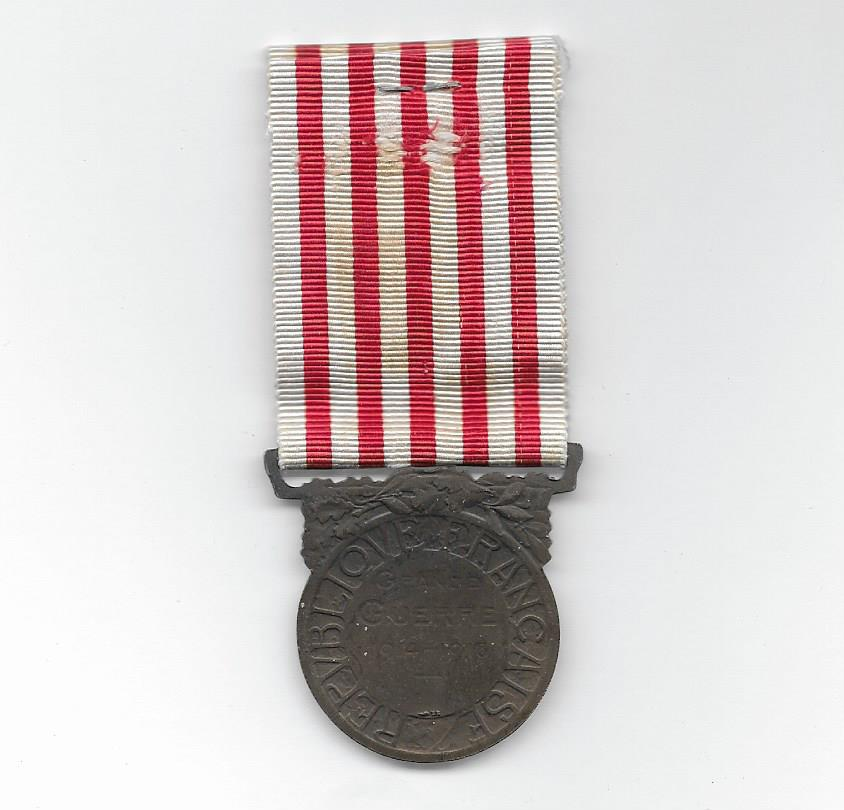 Medal Commemorative of the Great War, 1914-1918, Paris Mint version  (Médaille Commémorative de la Grande Guerre 1914-1918, modèle de la Monnaie de Paris)