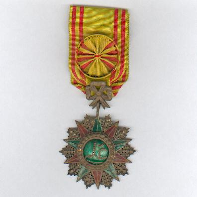 TUNIS.  Order of Nichan Iftikhar, officer, Ali Muddat ibn al-Husayn Bey issue (1882-1902), Tunisian hallmarked and dated 1291 (AD1874)