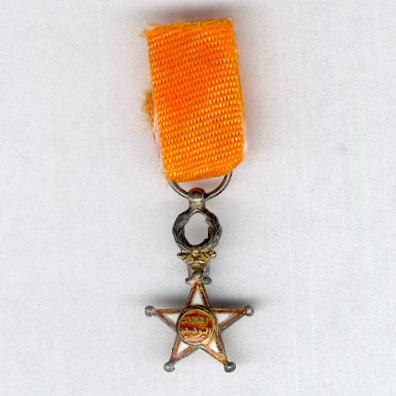 MOROCCO.  Order of Ouissam Alaouite, knight, 2nd type (Ordre du Ouissam Alaouite, chevalier, 2ème type), miniature by De Greef of Brussels