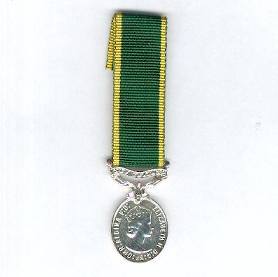 Efficiency Medal, Elizabeth II issue 1953-2000 with 'New Zealand' suspension bar, 1953-1954 version, miniature