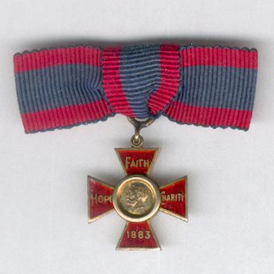 Royal Red Cross Decoration, I class, George V issue, miniature