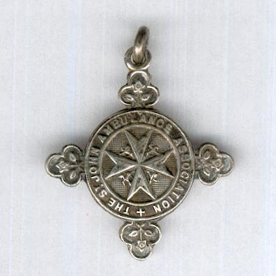 Most Venerable Order of the Hospital of Saint John of Jerusalem, Priory of England and the Islands, Miniature St John Ambulance Re-Examination Medallion, 4th issue, ca. 1909-1992, silver, attributed, by W. M. Dowler & Sons, Birmingham, 1938