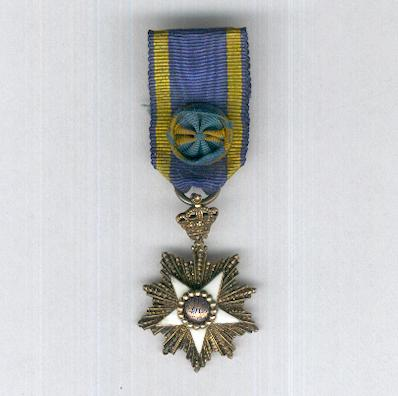 Order of the Nile (Nishan al-Nil), officer, pre-1952 issue, miniature