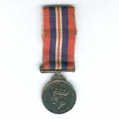 War Medal, 1939-1945, miniature