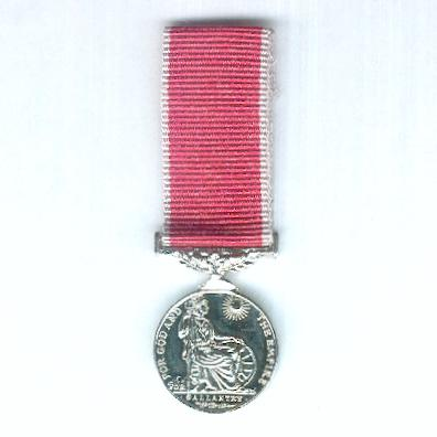 The Most Excellent Order of the British Empire, Medal for Gallantry (Empire Gallantry Medal), George VI issue, 1937-1940, miniature, on civil ribbon