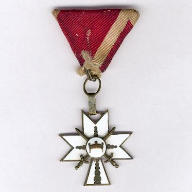 Order of King Zvonimir's Crown, 3rd class, with crossed swords