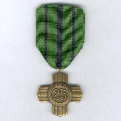 Army Long Service Cross for 25 years' service