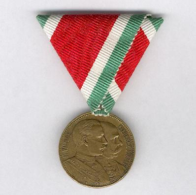 Commemorative Medal of the Visit of Emperors Wilhelm II of Germany and Franz Josef I of Austria-Hungary to Budapest, 20 September 1897