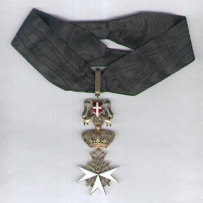 Order of Merit (Military Division) of the Sovereign Military Hospitaller Order of Saint John of Jerusalem, of Rhodes and of Malta, Donat of Devotion insignia by Tanfani and Bertarelli of Rome