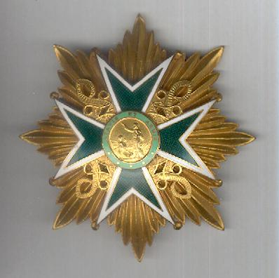 Military and Hospitaller Order of Saint Lazarus of Jerusalem, breast star (Ordre Militaire et Hospitalleur de Saint Lazare de Jérusalem, plaque)