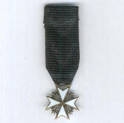 Order of Merit of the Sovereign Military Hospitaller Order of Saint John of Jerusalem, of Rhodes and of Malta, Knight of Justice, miniature