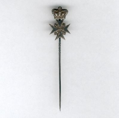 Sovereign Military Hospitaller Order of Saint John of Jerusalem, of Rhodes and of Malta, Knight or Dame III class, 1st to 5th category, silver stickpin
