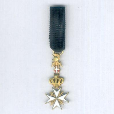 Order of Merit (Military Division) of the Sovereign Military Hospitaller Order of Saint John of Jerusalem, of Rhodes and of Malta, Knight of Grace and Devotion, miniature