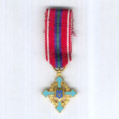 Inter-Allied Military Organisation Sphinx (IMOS) Victory Cross, miniature