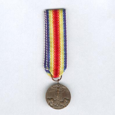 Inter-Allied Victory Medal, Italian issue (Medaglia della Vittoria Interalleata), 1914-1918, rare miniature