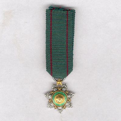 Order of the Star of Jordan (Wisam al-Kawkab al-Urdani), knight, miniature