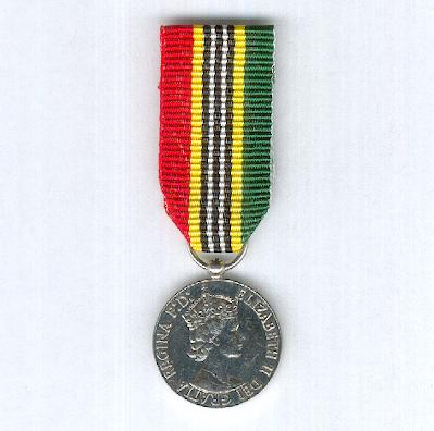 St. Kitts and Nevis Independence Medal 1983, miniature