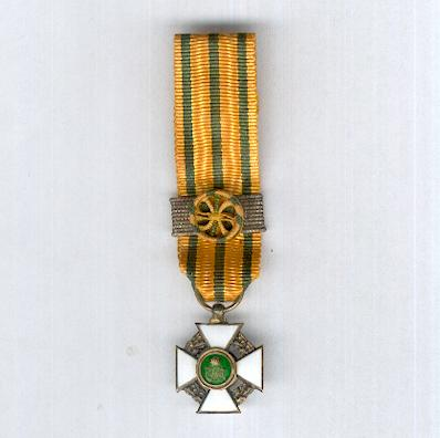 Order of the Crown of Oak, commander (Ordre de la Couronne de Chêne, commandeur), miniature