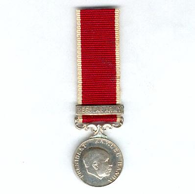 Long Service and Good Conduct Medal with Regular Army clasp, 1968-1993 issue, miniature