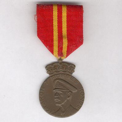 Medal for the 70th birthday of King Haakon VII (Konge Haakon VII 70-års-medalje), 1942, by J. Tostrup