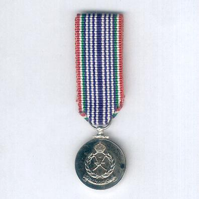 Royal Oman Police Long Service Medal, miniature