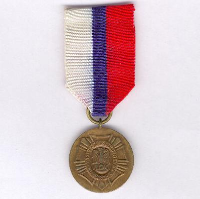 Country Defence League Medal of Merit (Medal Za Zasługi dla Ligi Obrony Kraju), bronze