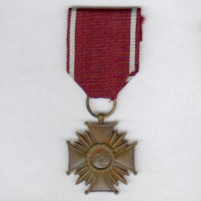 Cross of Merit (Krzyż Zasługi), bronze class, issue since 1992