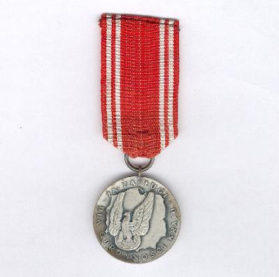 Medal for Merit in Defence of the Country (Medal za Zasługi dla Obronności Kraju), II class, 1966-1989 issue
